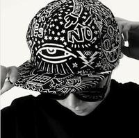 Hot Brand Fashion Snapback Harajuku Eyes Graffiti Baseball Caps For Men Women Adjustable Hat New Fashion SCX163-M0372