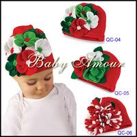 Hot sold Spring Autumn Christmas flower lovely children kid Baby hat Baby Photo Props Baby Kids Girl hat Gift (3PCS/LOT)