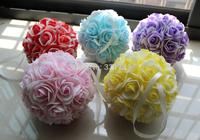 7 inch (18cm) Wedding Artificial Foam Rose Bicolor Kissing Ball Flower Pomander Bouquet Ball Wholesale accepted