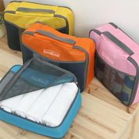 BF050 Fashion travel check mesh bag toiletry bags  travel bag 37*26cm free shipping