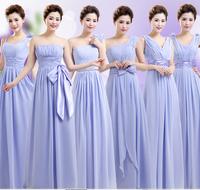 Free shipping Bridesmaid formal dress long design evening dress wedding dresses retail price 2 colors 2 styles zipper & bandage