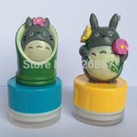 Customized Photosensitive Cartoon Totoro stamp mark Colorful birthday name Word for DIY Scrapbooking/Card /Wedding Decoration