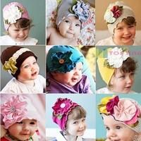 Spring Autumn Christmas flower lovely  Infant hat children kid Baby hat Baby Photo Props Baby Kids Girl hat Gift
