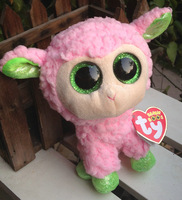 "IN HAND!   Rare Ty beanies Boo Cute Big eyes Animal ~Babs the pink lamb~~Plush doll 6"" 15cm Stuffed TOY BEST GIFT free shippin"