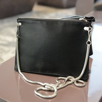 Fashion small fashion cross-body bag female brief elegant women's chain handbag elegant black messenger bag