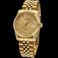 brand mechanical gold watch, multifunction Casual watch, fashion dress watch,full steel men sports watches,Dial Clock