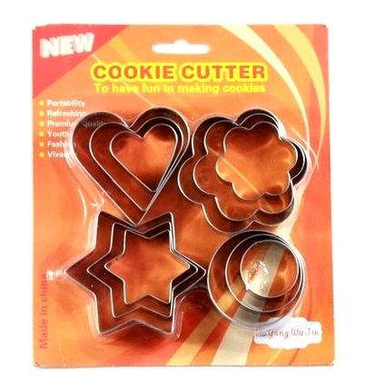 Coração da estrela flor Cookie Cutter Shapes Sporting biscoito Mold(China (Mainland))