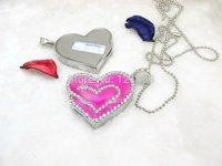 Drop shipping + Free shipping!!! Hotsale Jewelry novelty deisgn Heart shape usb flash drive 2GB-32GB flash memory stick pendrive
