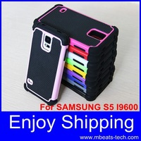 wholesale DHL free shipping 20 pcs/lot shock proof phone case for samsung galaxy s5 i9600