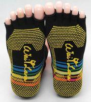 4pairs/lots multicolor models villain cotton slip yoga socks toe socks five finger socks