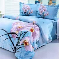 2014 New Luxurious Long Cotton Twill First Grade Export Type Queen 4 Pcs Bedding Sets/Bedclothes/Duvet Covers Bed Sheet. JS53