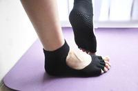 3pairs of antislip yoga toe socks for men and women open-toed toe socks thick socks five finger socks