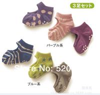 3pairs/6pieces/lot 2014 new children's boy girls socks baby socks cute socks non-slip  Modeling socks
