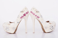 ( not sale shoes !!!) Design Service Fee  wedding pearl shoes bridal shoes for sign name on the shoes
