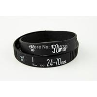2pcs SLR Nikon Canon Lens Bracelet Shot Silicone Rubber Wristband Photographers XMAS Gift Black Cool  50mm 24-70mm