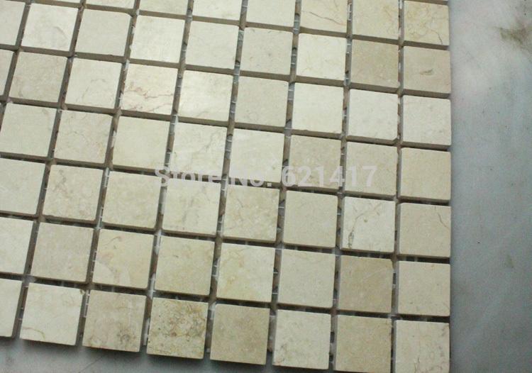 Azulejos Baño Color Piedra:Envío-gratis-egipto-mármol-color-Beige-azulejos-de-mosaico-de-piedra