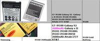 AA battery GT-i9100 Galaxy S2 for Galaxy s II I9101 I9108 I9100G I9103 I9188 i9050 Attain i777 AT&T for samsung phone