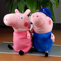 2Pcs/Lot Peppa Pig Grandpa And Grandma Plush Toys 30CM High Pepa Pig Party Kids Brinquedos 2014 New Arrival