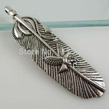 frete grátis( 15 peças/lote) 11408 águia liga pena pingente estilo vintage antigo tom de prata(China (Mainland))