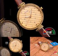 2014 New Arrival 100% Julius Women Rhinestone Watches Women Dress Watch Korea Design Genuine Leather Strap Clocks For Lady