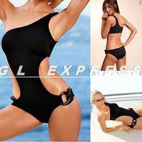 Sexy Push-up Padded Halter Monokini One Piece Bikini Swimsuit Swimwear Beachwear