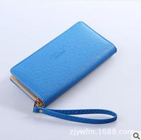 Women Wallets 2014 Brand Designer Solid Letter Wallet Women Pu Leather Zipper Carteras Women Purse High Quality Korean Wallet