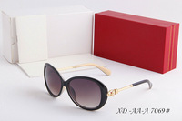 2014 spring classic fashion sunglasses woman brand glasses Oversized frame Eyewear with box,6color #AA7069#