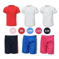 wholesale  2014 hot childrens clothing set 2 pcs suit boy's girl's  T-shirt + pants Baby clothes boys sport suits 5pcs/lot