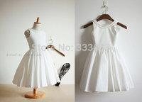 Free shipping White princess flower girls dress Dress party evening elegant 2-12 age