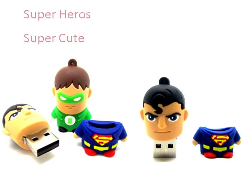 Newest Cute Design 9styles Super Hero man Flash Drive 8GB 16GB 32GB U Disk USB 2.0 Memory Flash Pen 64g Thumbs Drive Disk Stick(China (Mainland))