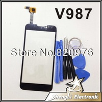 Original LCD Top Touchscreen Digitizer Touch Screen Glass Replacement For ZTE V987 (Grand X Quad)+Free shipping+Tools
