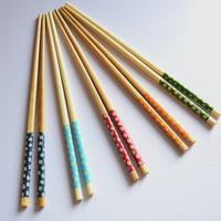 Cherry pattern, bamboo chopsticks, 5 colors optional, no paint, Natural chopsticks,  floatware, tableware~