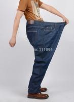 Fat men's clothing base jeans male  straight trousers big plus size pants loose trousers size 38-52 ! paper-thin denim