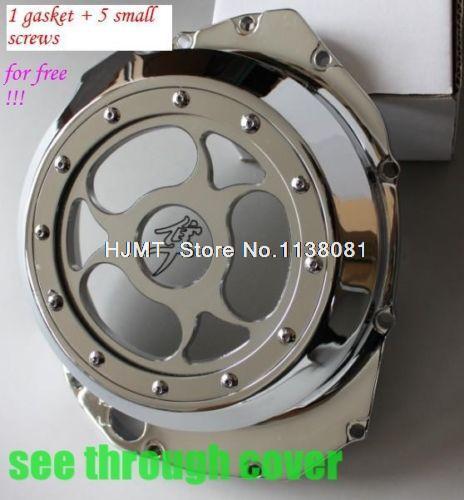 Billet motor da embreagem See Through para SUZUKI Hayabusa GSXR1300 1999-2012 Chrome motor estator capa(China (Mainland))