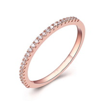 Italina Rigant 18K Rose Gold Plated Genuine Austrian Engagement Ring Made With Austrian Crystal Stellux Cubic Zirconia #RG91668