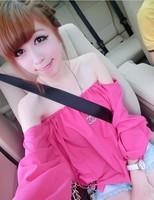 Summer top female loose cute formal shirt sexy small dress slit neckline strapless chiffon shirt