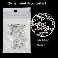 200pcs/lot 5.5mm Hollow Alloy Metal 3D Silver Bow Design Accessories Nail Art Salon