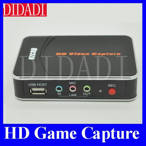 Livraison gratuite de capture de jeu hd, capture vidéo ezcap hd, 1080p hdmi./ypbpr enregistreur à disque usb- ezcap280 pour xbox un/360 ps3 wii
