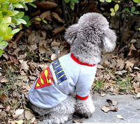 The New Summer Pet Clothes Superman Printing Patterned Sweater -2 Color Size XXL