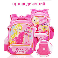 Barbie cartoon/children/orthopedic/student/books  school bag  shoulder backpack rucksack for girls 6-8 years grade/class 1-3