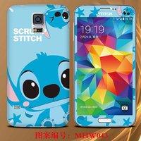 Fashion Cartoon Screen Protectors Film Case for Samsung Galaxy S5 i9600, Free Shipping Sticker Case for Samsung Galaxy S 5