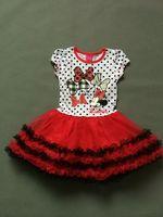 Fashion girls short-sleeve dress minnie mouse  Kids   Tutu dress  size 2-6T
