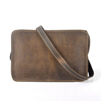 Fashion vintage messenger bag full cowhide genuine leather bags crazy horse small leather bag can messenger