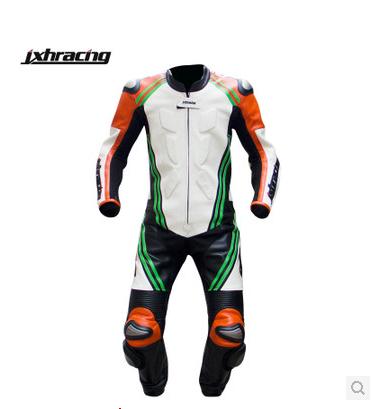 Professional off-road motorcycle racing suits men's titanium piece Fangshuai true leather belt hump(China (Mainland))