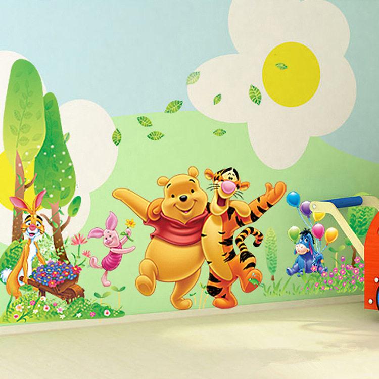 Best chambre bebe winnie the pooh winnie lourson mur de for Chambre winnie l ourson aubert
