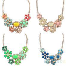 2014 New Fashion Women Alloy Bohemian Necklaces jewelry Chunky Bib Choker necklaces & pendants 023S(China (Mainland))