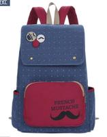 New Sale Softback 2014 Lovely Printing Backpack Children Women Travel Bags Girl Cartoon Brand Shoulder Canvas School 3 Styles