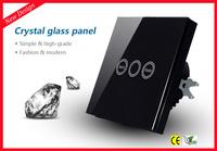 Smart Home Touch Screen Time Delay Wall Switch 1 Gang 1 Way, Waterproof Glass Panel Light Timer Switch , EU Standard