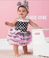 Retail new 2015 clearance sale  Polka Dot princess girl  dress cake Tutu dresses without headband