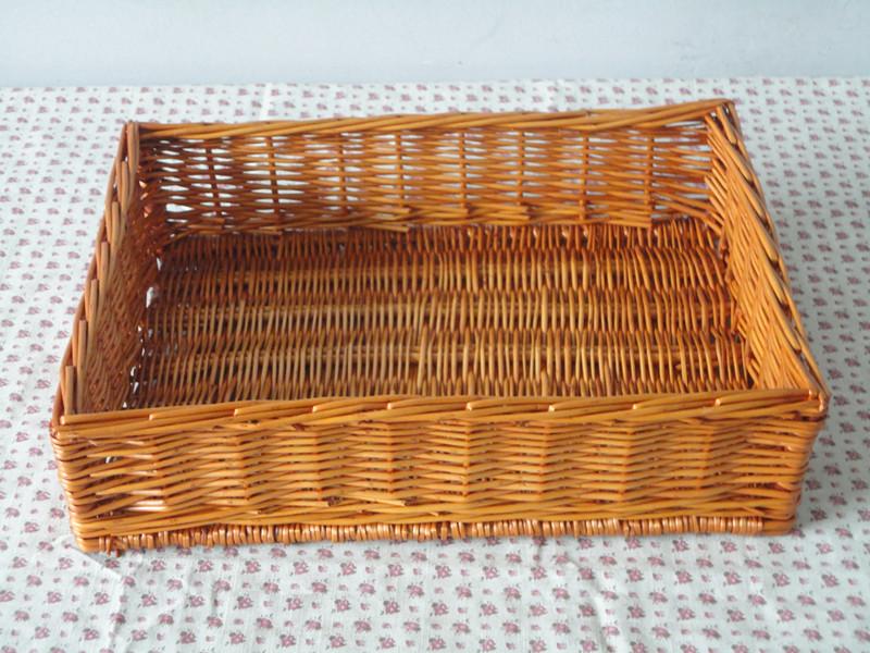 free shipping! willow fruit basket, wicker food tray, store shelf, display basket, storage basket, not rattan or bamboo(China (Mainland))